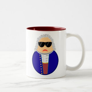 Bach Classical Composer Funny Music Gift Two-Tone Coffee Mug