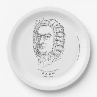 Bach: Face the Music Paper Plate