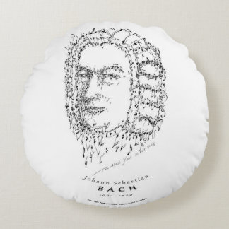 Bach: Face the Music Round Pillow