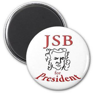 Bach for President 2 Inch Round Magnet