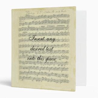 Bach Manuscript Binder