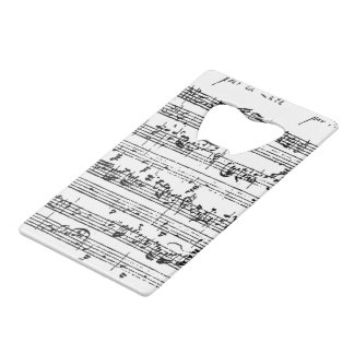Bach music bottle opener credit card bottle opener