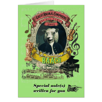 Bach Parody Baach Funny Animal Composer Sheep Card