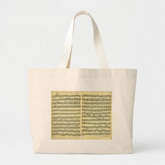 Bach Partita Large Tote Bag