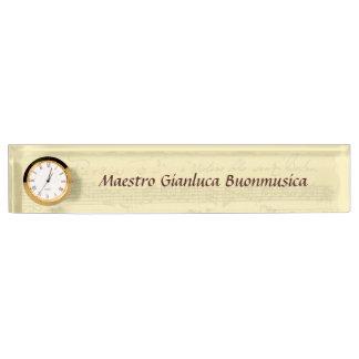 Bach Partita Manuscript Name Plate