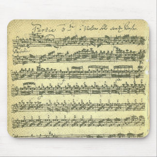 Bach Partita Music Manuscript for Solo Violin Mouse Pad