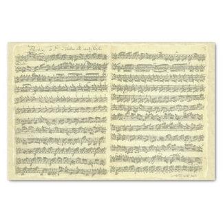 Bach Partita Music Manuscript for Violin Solo Tissue Paper