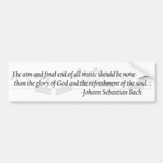 Bach Quote Bumper Sticker