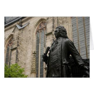 Bach Statue Card