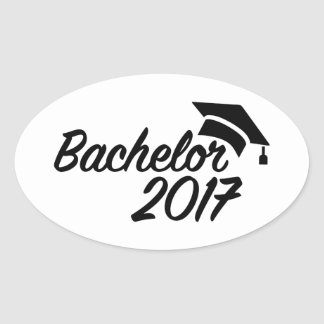 Bachelor 2017 oval sticker
