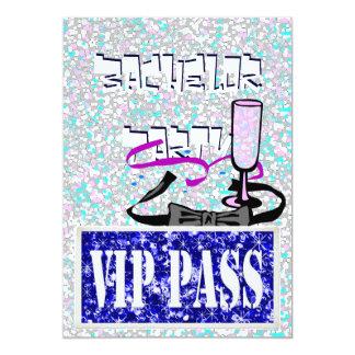 Bachelor blue vip party invitation