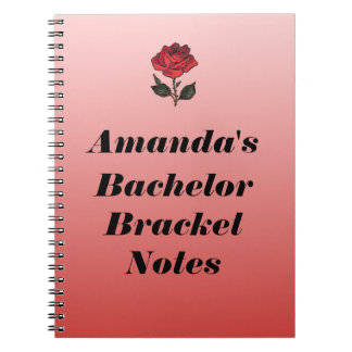 Bachelor Bracket Notes Spiral Notebook