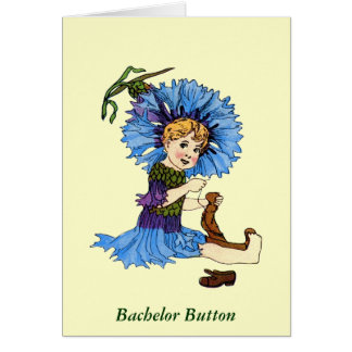 Bachelor Button Greeting Card