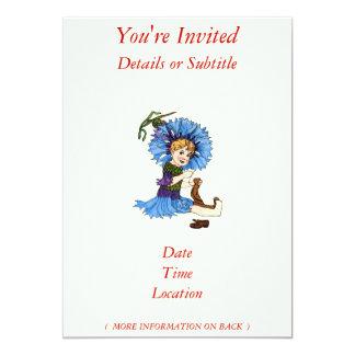 "Bachelor Button 5"" X 7"" Invitation Card"