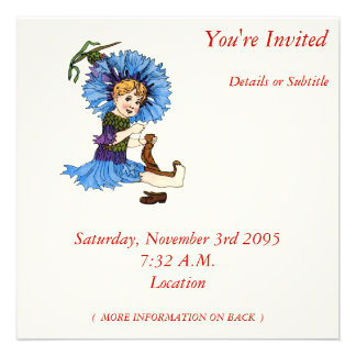 Bachelor Button Personalized Invitations
