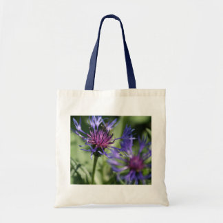 Bachelor Button Plant Tote Bag