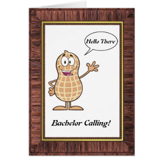 Bachelor Calling Valentine's Day Greeting Card