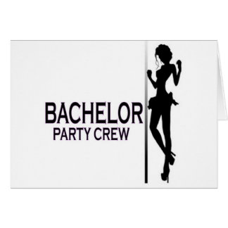 BACHELOR GREETING CARD