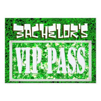 Bachelor green vip party invitation