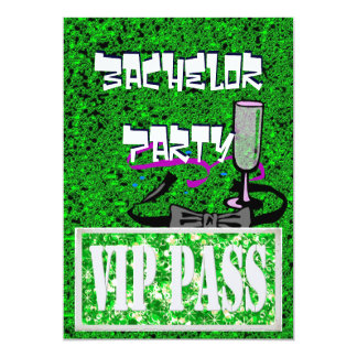 Bachelor green vip party invitation