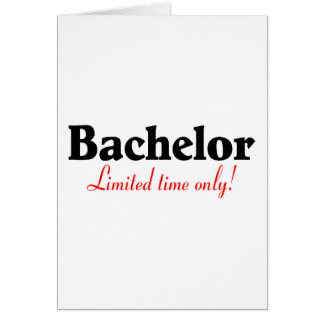 Bachelor (Limited Time Only) Card