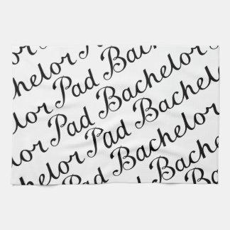Bachelor Pad Diagonal Script Pattern B&WII Kitchen Towel