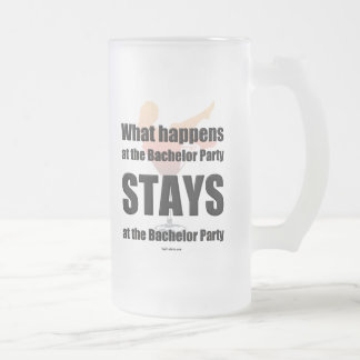 Bachelor party beer mug