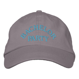 Bachelor party blue embroidered hat