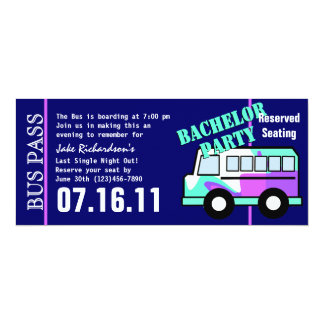 Bachelor Party Bus Pass Card