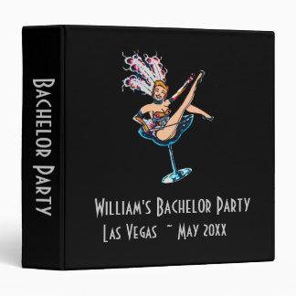 Bachelor Party Casino Showgirl for Groom Binder