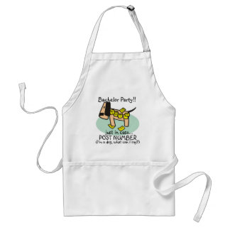 Bachelor Party Dog T-shirts and Gifts Adult Apron