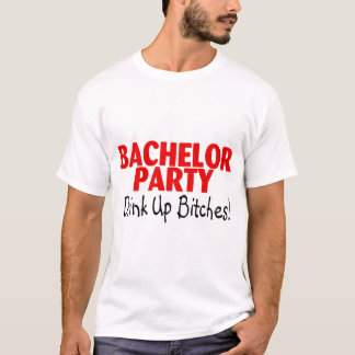 Bachelor Party Drink Up Red Black T-Shirt