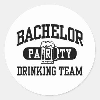 Bachelor Party Drinking Team Round Sticker