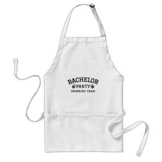 Bachelor party drinking team t-shirt aprons