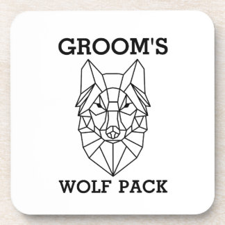 Bachelor Party Gift for men Groom's wolf Coaster