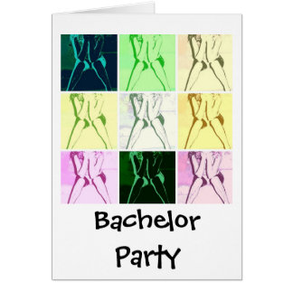 Bachelor Party Gifts Greeting Card