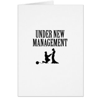 Bachelor party Groom Gift  Under New Management Card
