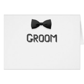 Bachelor Party  Groom With Bow Tie Pink Men Card