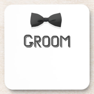 Bachelor Party  Groom With Bow Tie Pink Men Coaster