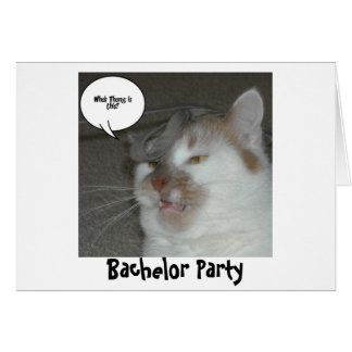 Bachelor Party Humor Card
