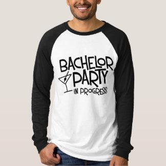 Bachelor Party in Progress Long Sleeve Raglan Tee Shirts