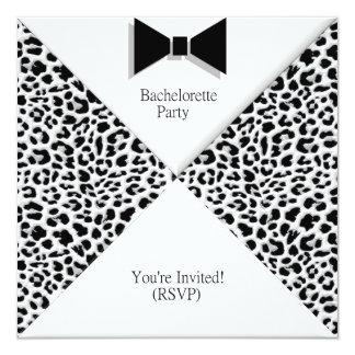 """Bachelor Party Invitation 5.25"""" Square Invitation Card"""