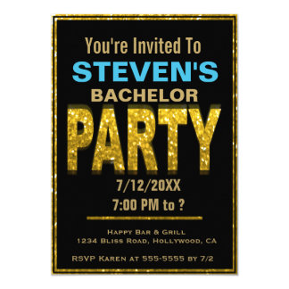 Bachelor Party Invitation | Gold