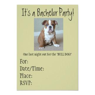 Bachelor Party Invitations English Bulldog