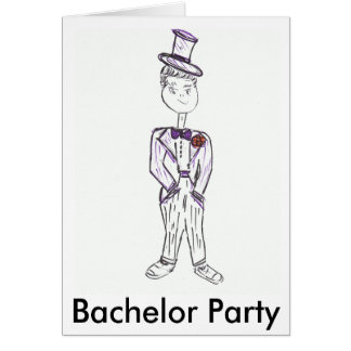 Bachelor Party Invite Greeting Card
