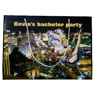 Bachelor Party Las Vegas Showgirl Large Gift Bag