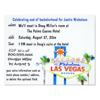 Bachelor Party Las Vegas Sign Card