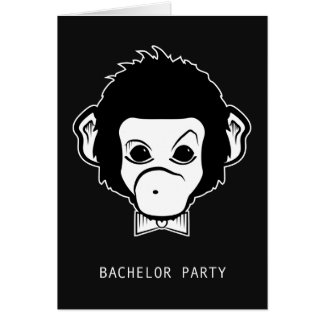 bachelor party mister monkey greeting card
