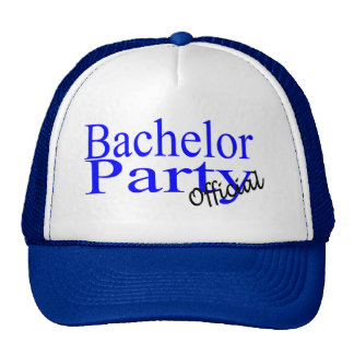 Bachelor Party Official Blue Trucker Hat
