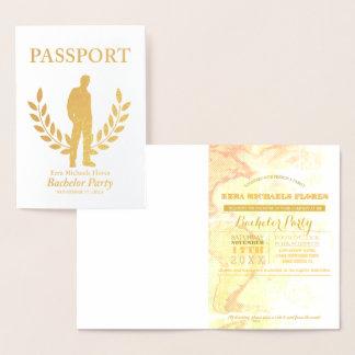 Bachelor Party passport gold foil Foil Card